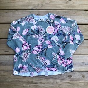 SHOW ME YOUR MUMU Cropped Varsity Sweater NWT